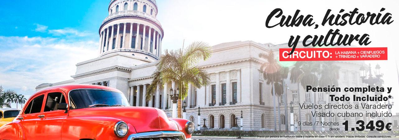 Oferta Circuito Cuba: La Habana, Cienfuegos, Trinidad y Varadero