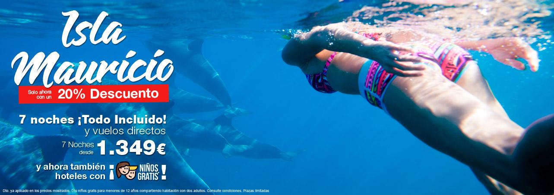Ofertas de viajes a Isla Mauricio con vuelos directos