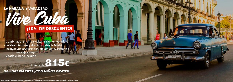 Ofertas Cuba: La Habana + Varadero