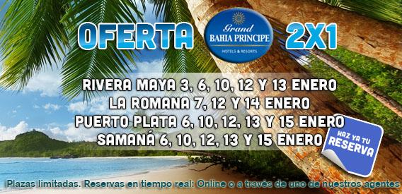 Oferta 2x1 Bahía Príncipe