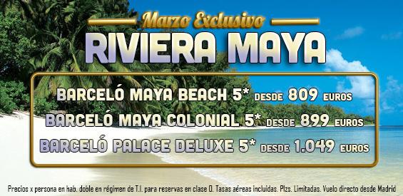 Ofertas de ultima hora a la Rivera Maya