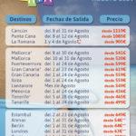 RECOPILACIÓN OFERTAS AGOSTO: CARIBE+ISLAS+EUROPA