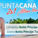 ¡Oferta Última Hora! 2×1 Punta Cana Bahia Principe
