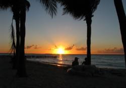 Atardecer en isla Mujeres Mexico
