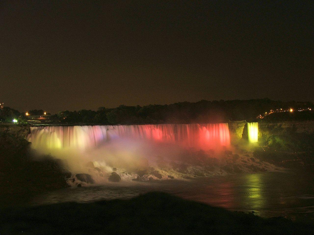 Niagara cataratas de noche